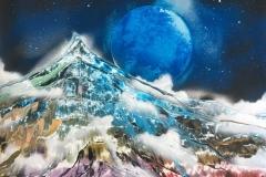 極彩色の山 Mountain of Attractive Colors